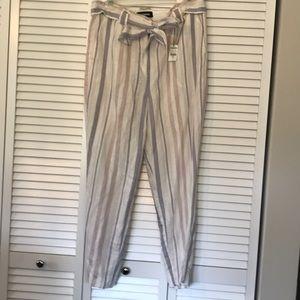 Ankle length linen pant